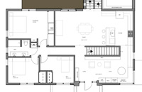 Floor Plan for the DeBord Residence