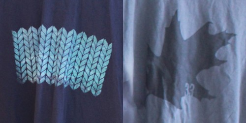 Tee Shirt KNIT and LEAF pattern