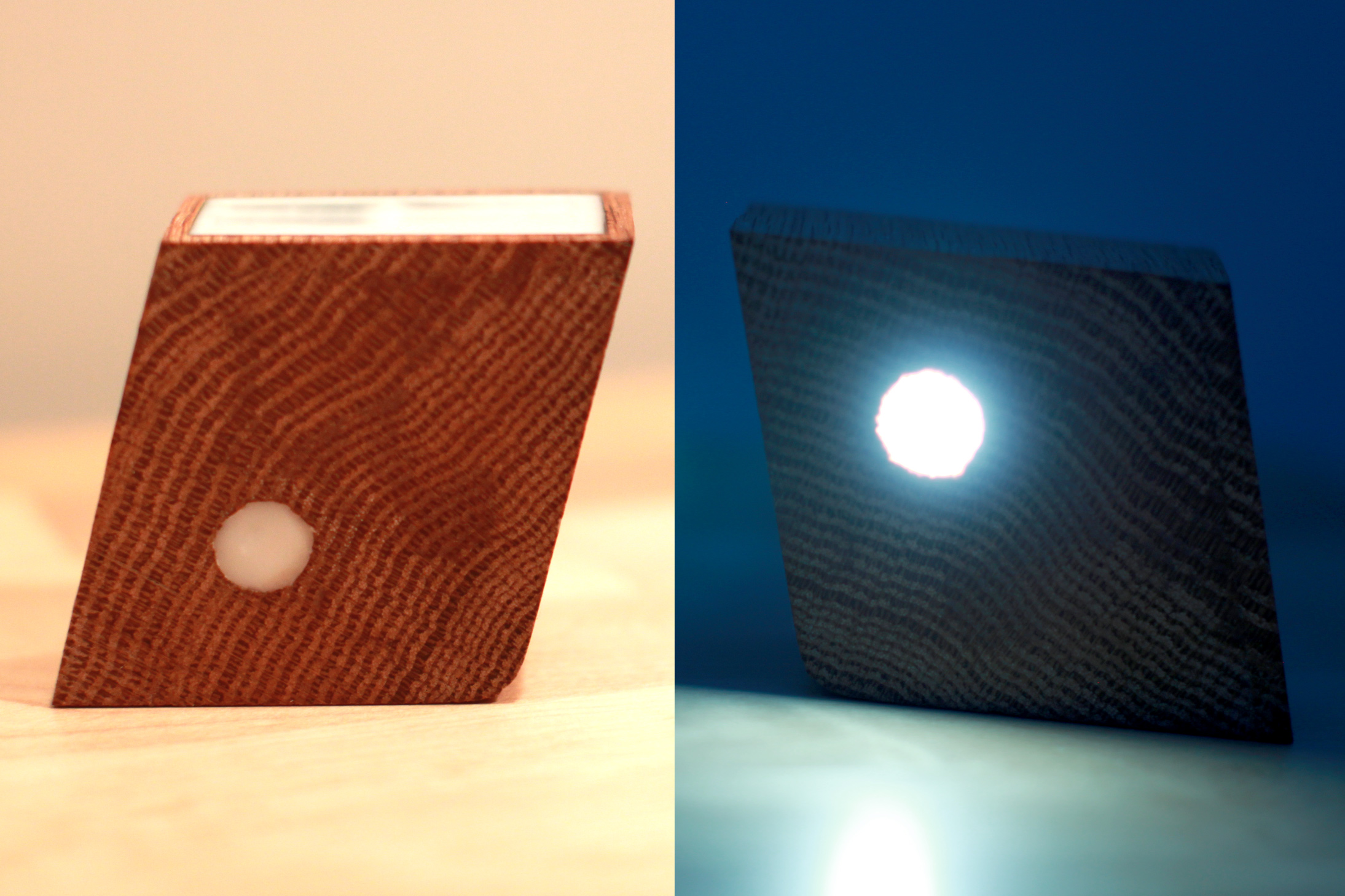 Tilt Beam / Rechargable Wood Light